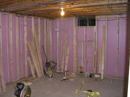 framing basement walls vapor barrier home decorations stud
