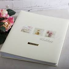 Traditional Wedding Albums Personalised Rose Design Traditional Wedding Album The Gift