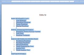 cara membuat garis pada daftar isi makalah cara membuat titik titik otomatis pada daftar isi ms word ridvan