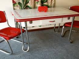 Retro Metal Kitchen Table  Retro Kitchen Table With Vintage Look - Vintage metal kitchen table
