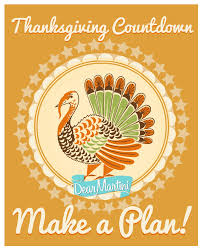 thanksgiving planning time to make a plan and stock up dear