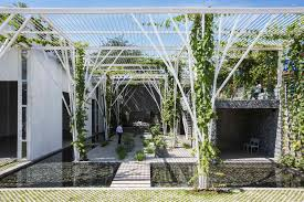 vegetable trellis cong sinh architects archdaily