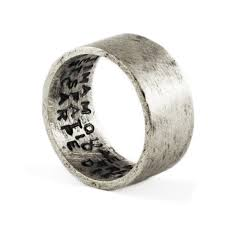 mens silver rings mens silver ring personalized silver ring sted ring