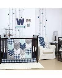 Blue Crib Bedding Set Spectacular Deal On The Peanut Shell Woodland Trails 4 Crib