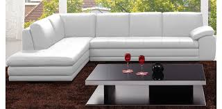 White Italian Leather Sectional Sofa Troy Chestnut Brown Italian Leather Sectional Sofa And Ottoman