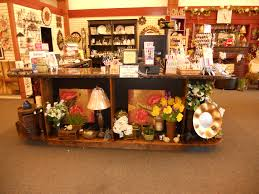 retail store display ideas check out counter with display area