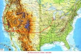 Route 66 California Map by Route 66 And The West Coast Usa