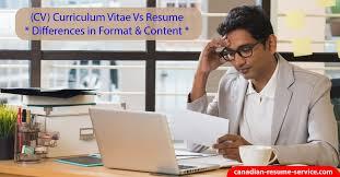 Cv Curriculum Vitae Vs Resume Https Canadian Resume Service Com Wp Content Upl
