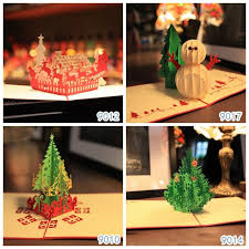 vintage christmas theme 3d laser cut pop up paper handmade