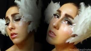 white swan a swan lake makeup tutorial youtube