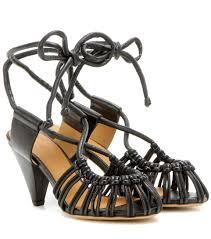 isabel marant ètoile milly leather sandals mytheresa com