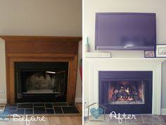 new fireplace design with white mantel and cream wall paint color