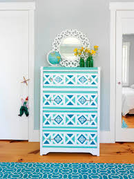 How To Paint Old Furniture by How To Paint A Geometric Design On A Dresser How Tos Diy