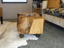 curious tree stump side table u2013 matt and jentry home design