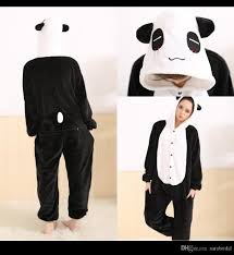 Warm Womens Halloween Costumes Flannel Unisex Women Men Warm Winter Pajamas Panda Pajamas
