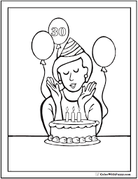 coloring pages happy boy 55 birthday coloring pages customizable pdf