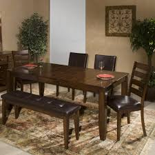 6 Dining Room Chairs by 6 Piece Dining Room Set With Parson U0027s And Ladder Back Side Chairs