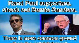 Ron Paul Memes - bernie sanders supporters are actually trying to recruit rand paul fans
