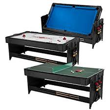 fat cat game table amazon com fat cat pockey 7ft black 3 in 1 air hockey billiards