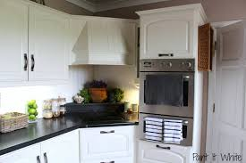 Rustic Painted Kitchen Cabinets by Annie Sloan Chalk Paint In Old White Wood Kitchen Cabinet Update