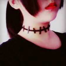 2017 vintage vampire diaries zombie black choker necklace