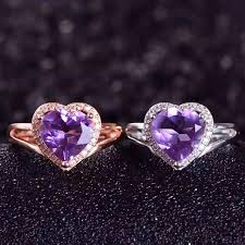 amethyst stone rings images Lady genuine natural amethyst stone ring 925 sterling silver women jpg