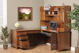 White Office Desk With Hutch Place A Corner Desk With Hutch And A Wing In A Room