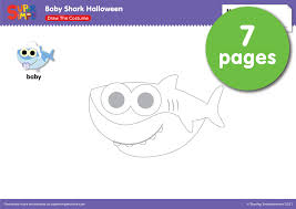 baby shark halloween u2013 draw the costume super simple