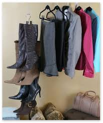boot stax includes 6 boot hangers floor space compact and