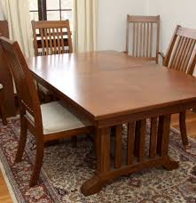 Mission Oak Dining Chairs Mission Style Oak Dining Set Ebth