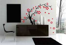 home decor wall painting ideas decorations white tree wall art decoration ideas on grey wall