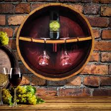 reclaimed wine barrel stave server with iron feet show off the