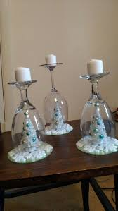 28 best wine glass candle and christmas bulbs table decorations
