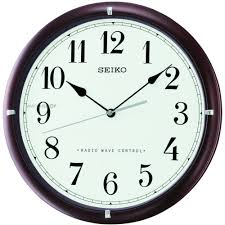 Wooden Wall Clock Seiko Clocks Wooden Wall Clock Radio Controlled Qxr303b Watch