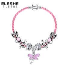 charm bracelet for eleshe children butterfly charm bracelet for women kids