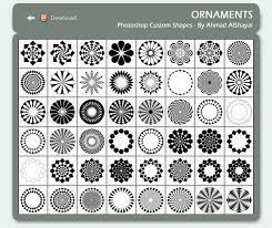 photoshop custom shapes ornaments graphic design