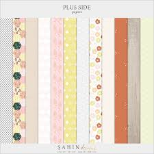 plus side digital scrapbook collection sahin designs
