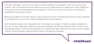 Resume For Work Abroad Job Hunting Advice Twitter Q U0026a Transcript