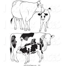 royalty free stock coloring page designs of farm animals