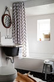Cowhide Shower Curtain Kohler Triton Gooseneck Faucet Contemporary Bathroom Breeze