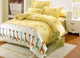 Giraffe Bed Set Giraffe And Small Flower Pattern Cotton Style 4 Duvet