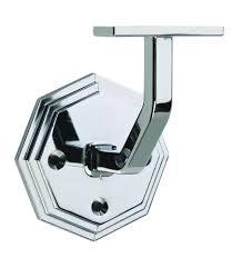 chrome banister rails richard burbidge cowb handrail wall bracket octagonal chrome