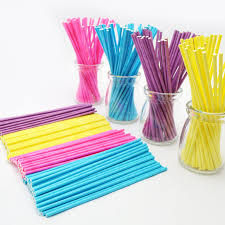 where can i buy lollipop sticks 100pcs colorful lollipop stick 15cm papen cake pop sticks for
