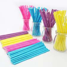 where can i buy lollipop sticks 100pcs colorful lollipop stick 15cm papen cake pop sticks for