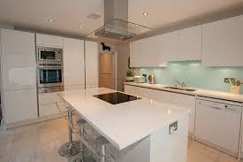 kitchen island worktop gloss white kitchen island in kitchens with white worktops