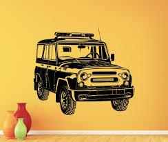 online get cheap garage wall mural aliexpress com alibaba group styling art russian car uaz wall decal garage vinyl sticker art decor mural home living room