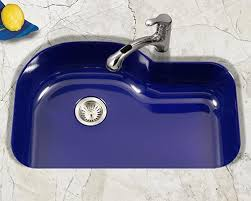 Blue Kitchen Sinks Houzer Porcelain Enameled Steel Kitchen Sinks