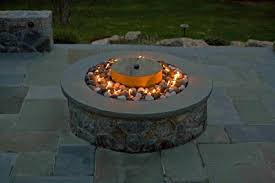 Custom Gas Fire Pits - rocks for firepalces fire pits