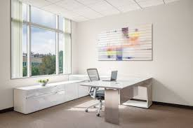 Office Furniture Components by This Modern Office Desk Design Features U201cfloating U201d Or U201ctiered