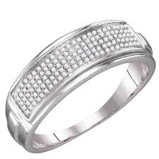 fusion wedding band fusion collections mens white gold finish micro pave diamond